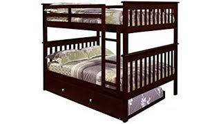 ✋ REVIEW of Donco Kid Furniture! DONCO Bunk Bed Full over Full Trundle in Cappuccino