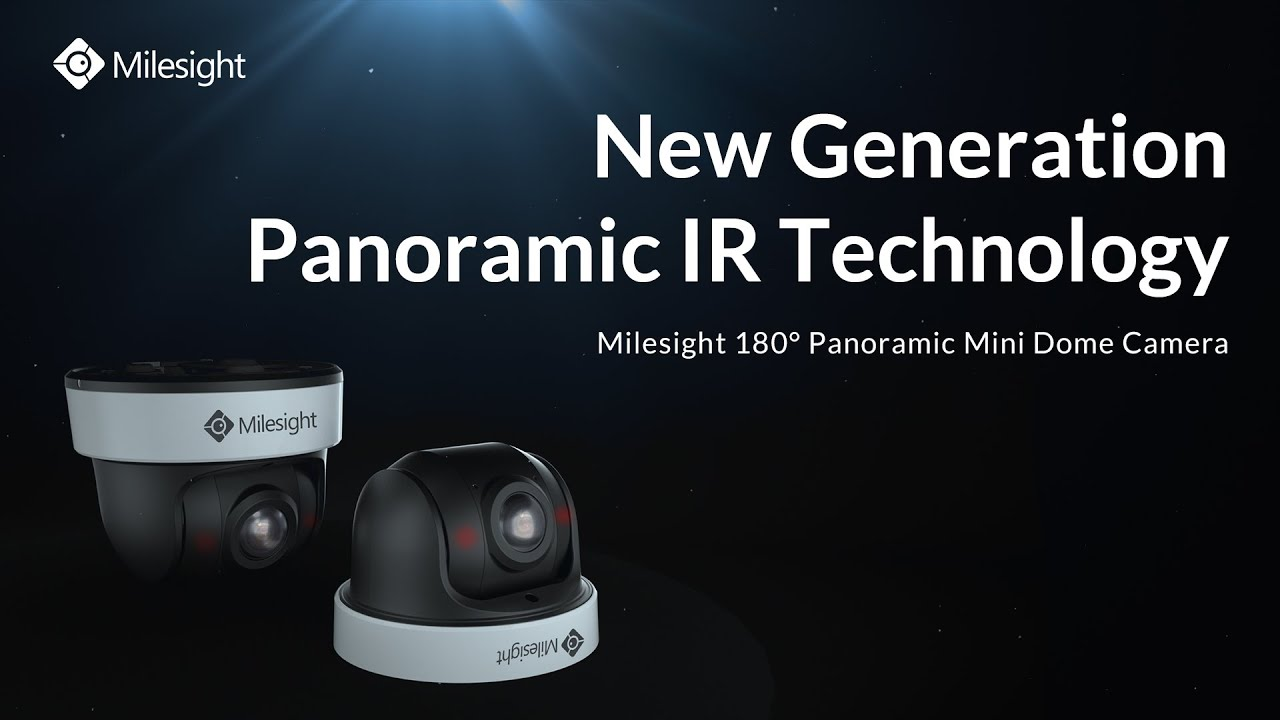 Milesight 180° Panoramic Mini Dome Network Camera   New Generation Panoramic IR Technology