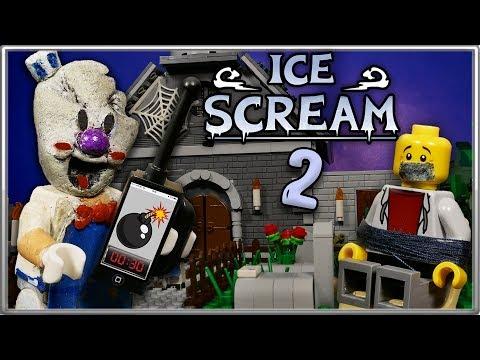 LEGO Мультфильм Мороженщик 2 Часть - Horror Game Ice Scream 2