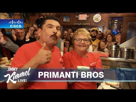 Tyson - Guillermo From 'Jimmy Kimmel Live!' Stops at Original Primanti Bros.