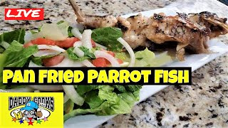 Pan Fried Whole Parrot Fish LIVE