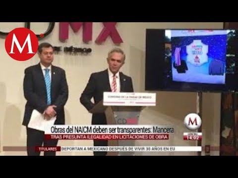 Mancera pide transparencia en licitaciones de nuevo AICM