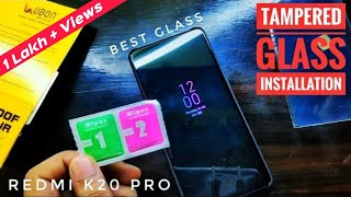 Redmi K20 & K20 Pro Best Tempered glass Screen Protector Installation Instructions | HINDI