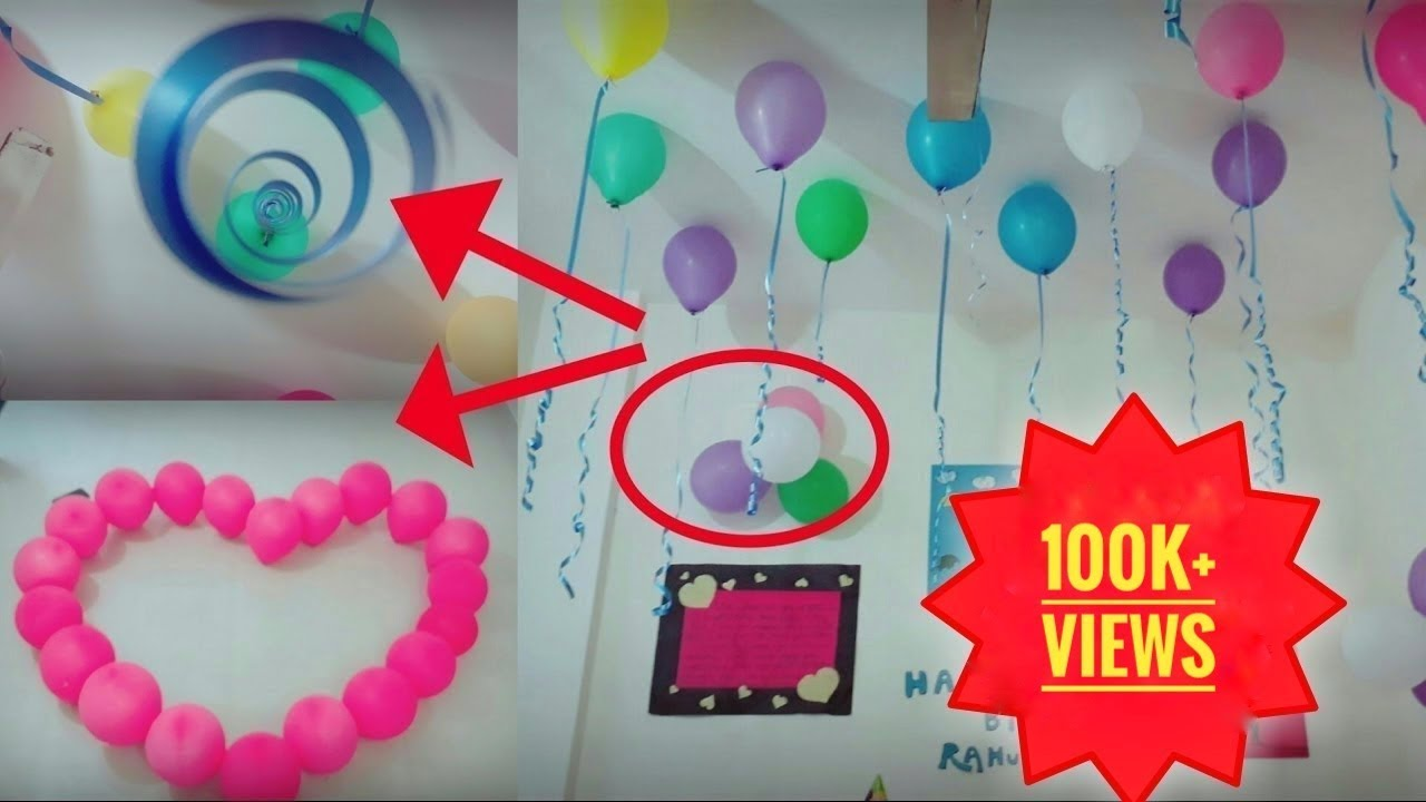 Easy Way To Decorate Room | Birthday Party Decoration | Birthday Decoration  For BF | Simple Way |