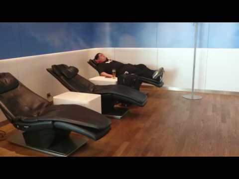 Check out Lufthansa's Business Lounge in Frankfurt