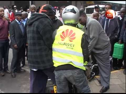 Drama as City Hall askaris attack bodaboda operator