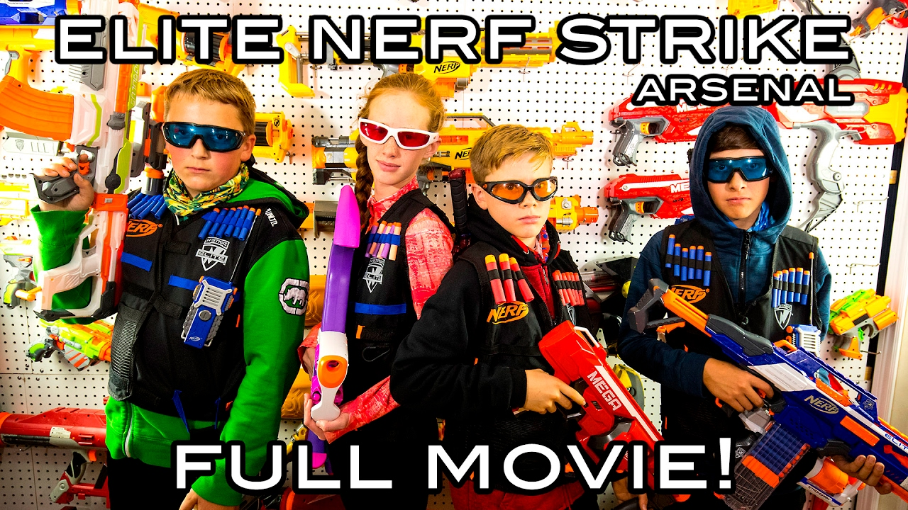 Download Elite Nerf Strike: Arsenal | Full Movie! (Nerf War)
