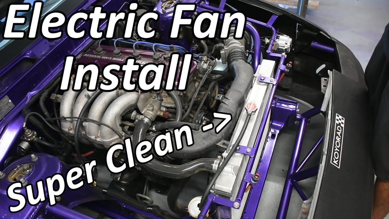 how to install electric fans on a 240sx youtube rh youtube com Electric Fan Relay Wiring Wiring Up Electric Fans