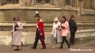 The Queen attends Easter Sunday service at Windsor Castle