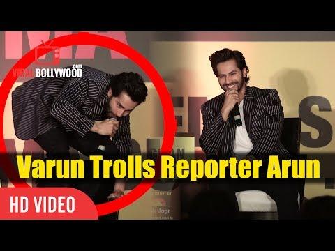 Varun Trolling Reporter Arun | Funniest Media Troll | Varun Dhawan At Jagran Cinema Summit