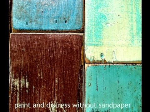 DIY paint distress furniture with CeCe Caldwell chalk and clay