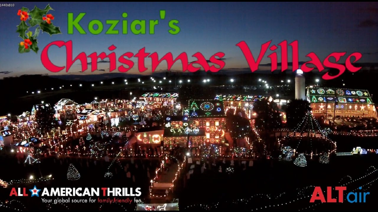 koziars christmas village 2016 in hd with sonia koziar