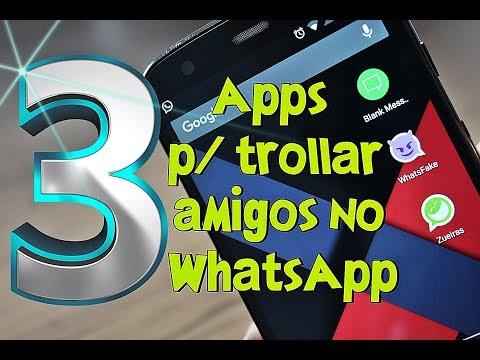 Top 3 Apps para TROLLAR (zUAr) seus Amigos no WHATSAPP