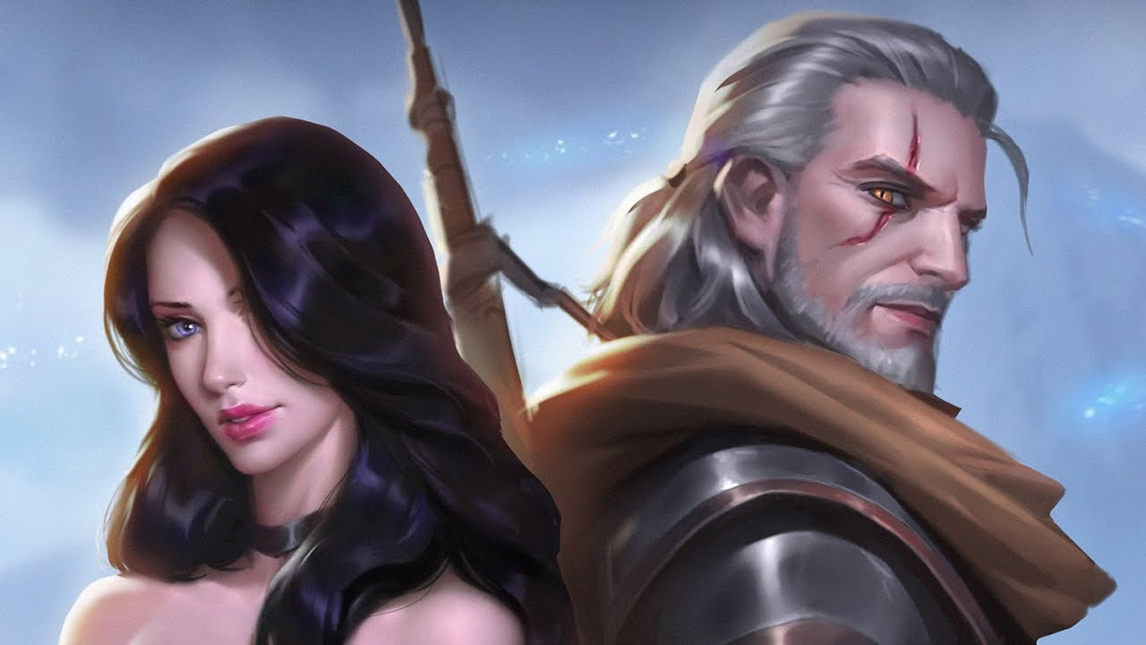 The Witcher Fanart Geralt Yennefer Painting Process Youtube