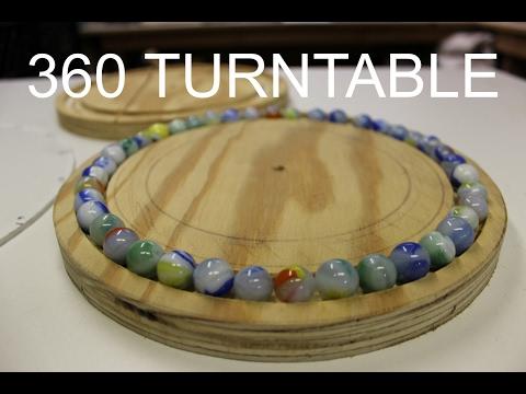 360 Degree Camera Setup - Rotating Turntable