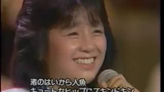 タレントスカウトキャラバンの映像から このときの優勝は井森さんです。