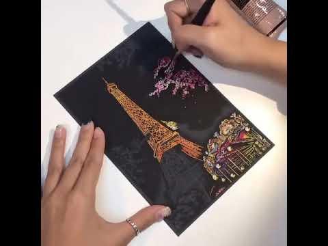 Tranh cạo Nghệ thuật Mẫu Tháp Eiffel