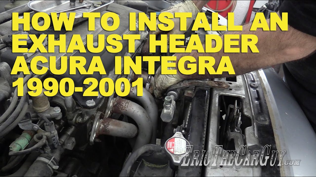 how to install an exhaust header acura integra 1990 2001 [ 1280 x 720 Pixel ]