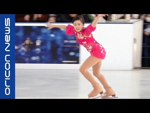 本田望結・紗来姉妹 スカイツリーでフィギュアスケート披露