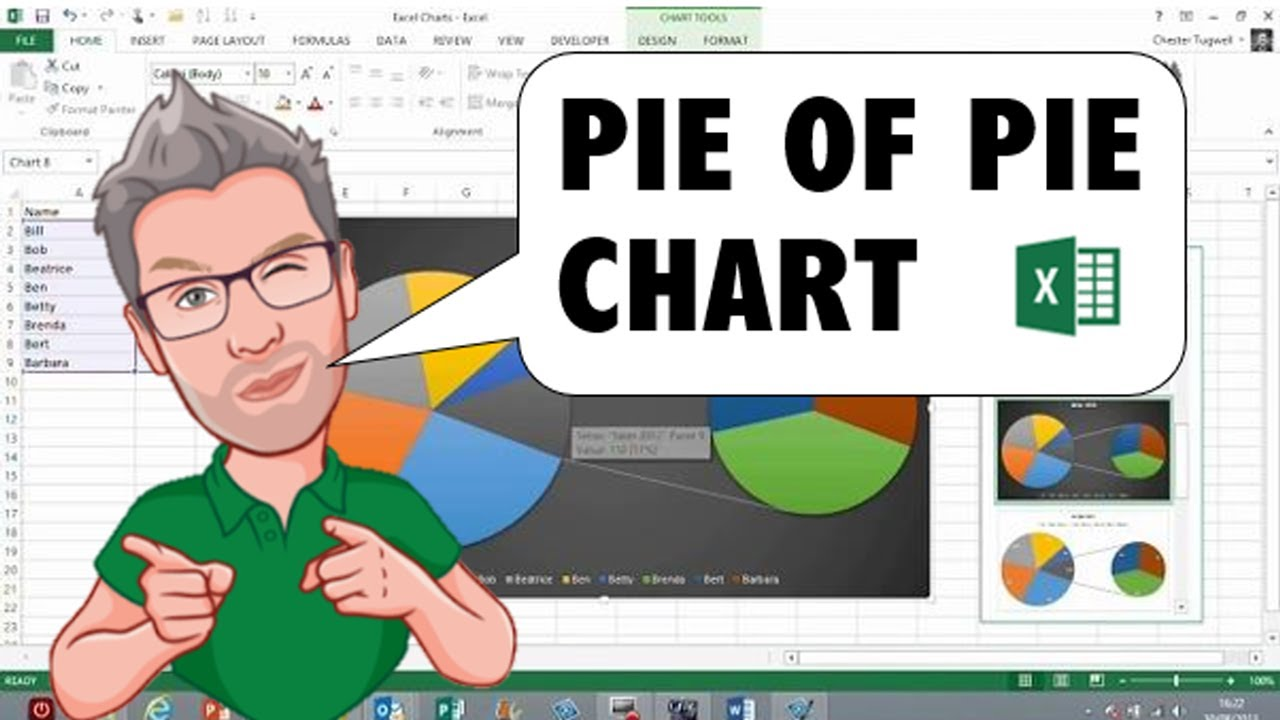 Pie of pie chart in excel youtube ccuart Choice Image