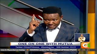 One on One With Dr  Alfred Mutua #SundayLive  Part 2