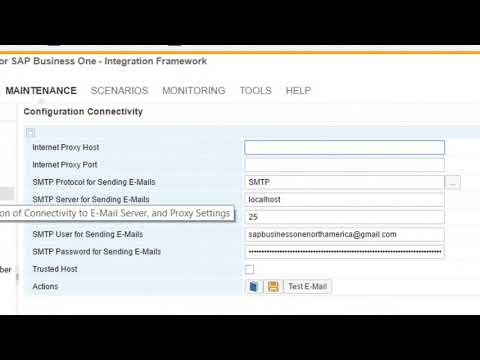 SAP Business One Integration Framework - How To - use papercut as local  smtp server and email viewer