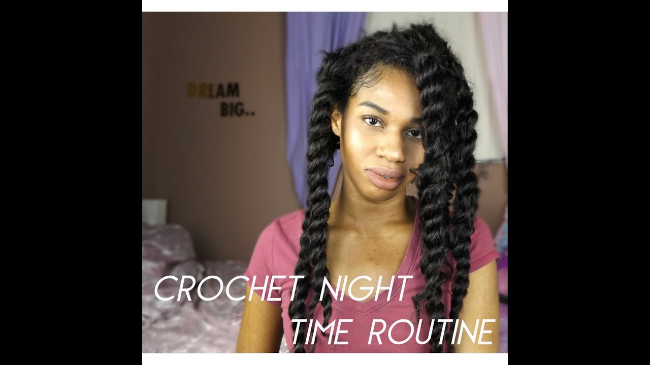 Crochet Hair At Night : Freetress Crochet Braids // Night Time Routine - YouTube
