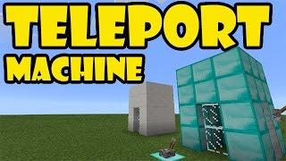 TELEPORT MACHINE TUTORIAL   Minecraft PE Redstone Contraption