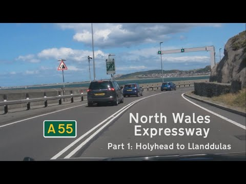 [GB] A55 North Wales Expressway, Part 1: Holyhead to Llanddulas