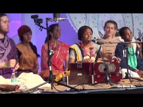 HG Acyuta Gopi Singing in Sadhu Sanga Retreat 2015 on Day 2   Bhakti, Bhajan, Kirtan