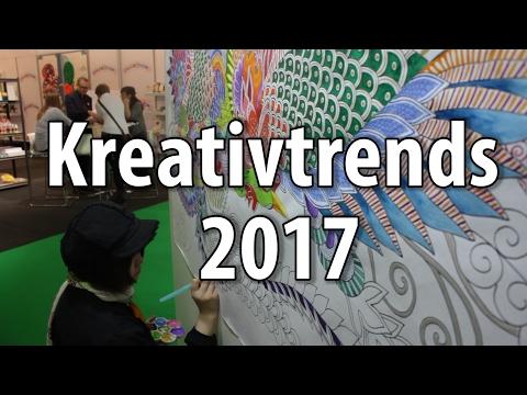 Kreativtrends und Bastel-Trends 2017/2018 von der creativeworld 2017 in Frankfurt