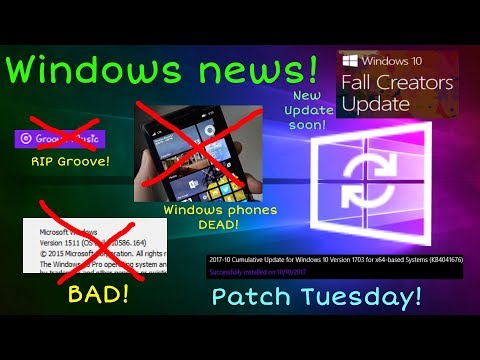 Windows news: Fall Creators Update, 1511 lost support, Windows phone dead, & more!
