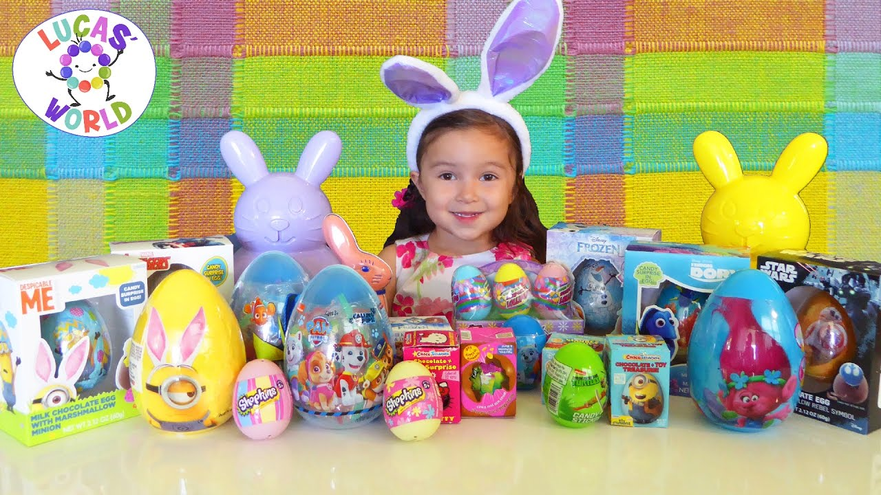 Egg Hunting Easter Chocolate Kinder Surprise Eggs
