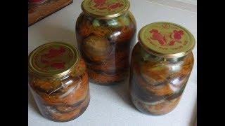 Баклажаны маринованные с морковью и луком. Вкусный рецепт. Заготовка на зиму.