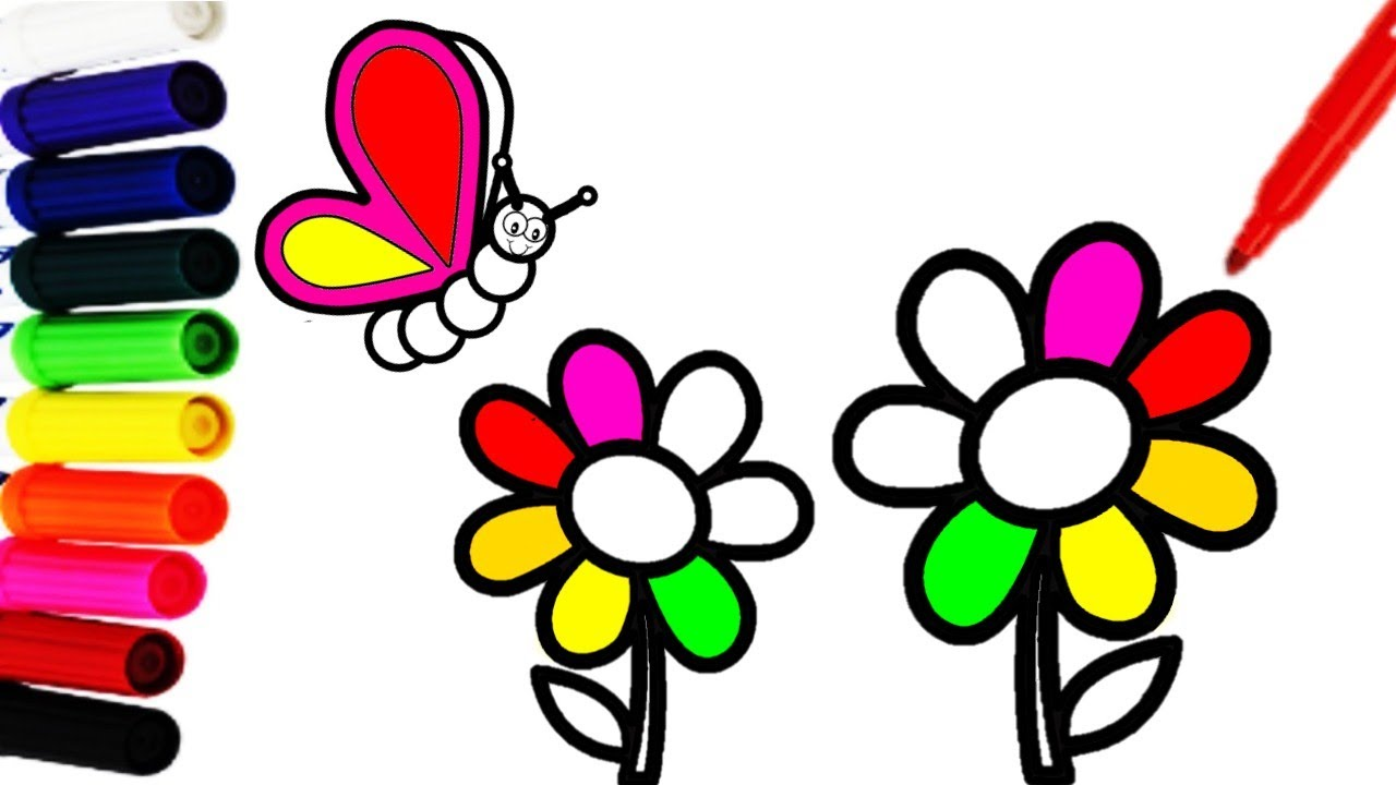 Mariposas Dibujos De Flores Para Colorear E Imprimir