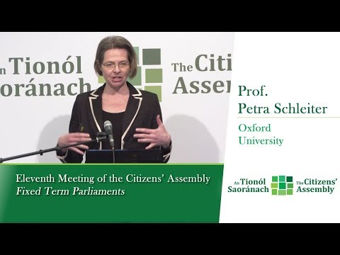 Prof. Petra Schleiter ~ Fixed Term Parliaments - experience and practice in other jurisdictions