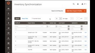 Magento 2.0 Inventory Synchronization Module Extension