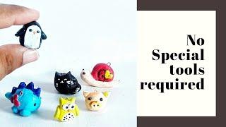 6 Cute mini animals DIY| m seal craft ideas| how to make easy diy miniatures| diy no clay charms