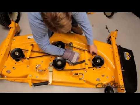 How to Change the Deck Belt on a Cub Cadet Riding Lawn Mower Using Model 14A 2A7K010  YouTube