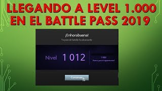 Llegando a Level 1000 en el Battle Pass TI9