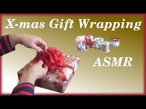 Christmas Gift Wrapping  ASMR  Bow Making