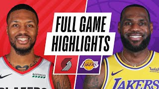 Download TRAIL BLAZERS at LAKERS | FULL GAME HIGHLIGHTS | February 26, 2021