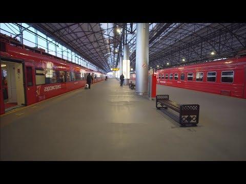 Russia, Moscow, Aeroexpress Train Ride From Sheremetyevo International Airport To Belorusskaya Metro