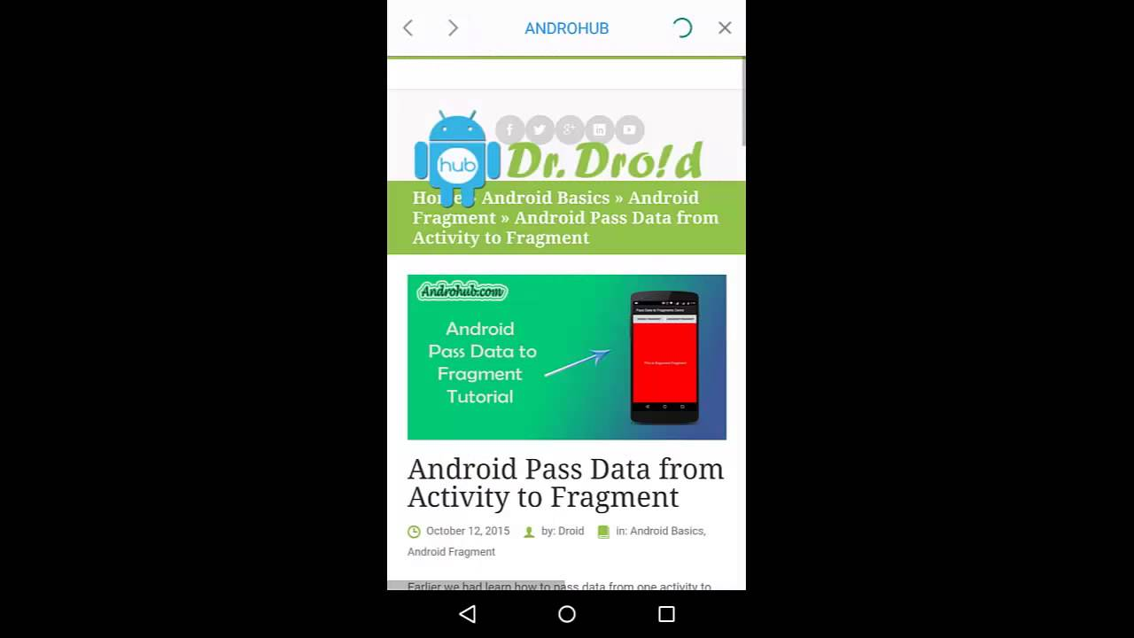 Android Advance WebView - Androhub