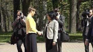 В Таллинне состоялась торжественная встреча президентов Эстонии и Грузии