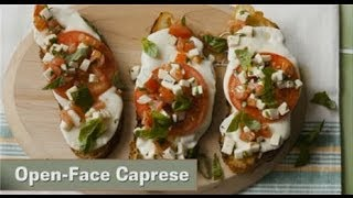 Apps in a Snap Open Face Caprese Thumbnail