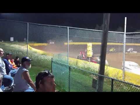 Ryan Quackenbush Hamlin speedway feature 6.17.17 two day show