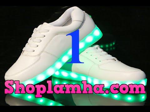 Giày Phát Sáng – Đập hộp giày phát sáng, hướng dẫn sử dụng – Shop Lâm Hà