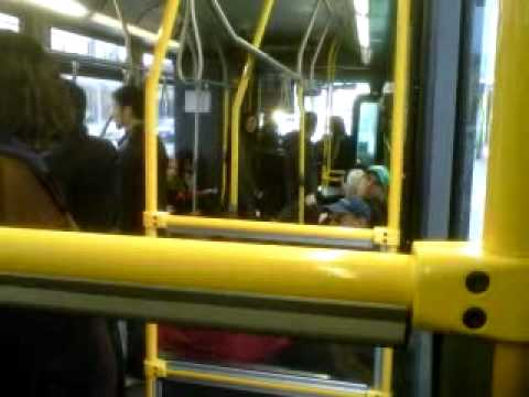 drunk people on ttc bus, driver snaps