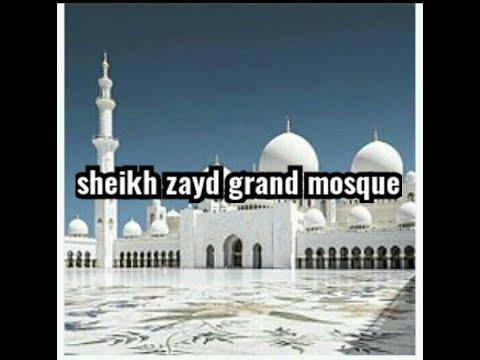 Beautiful mosque in abudhabi #sheikh zayd grand mosque